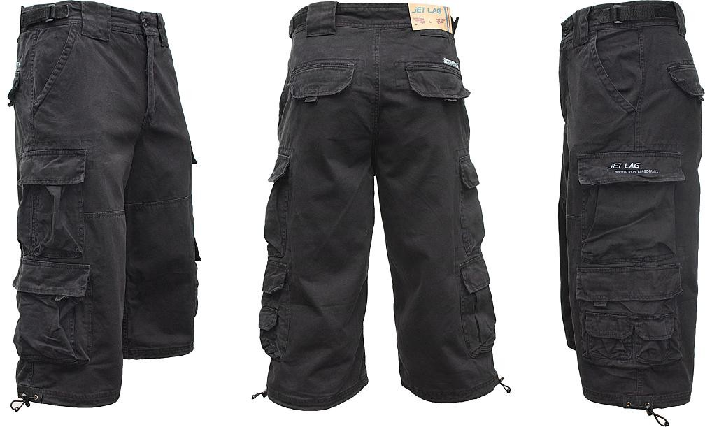 jet lag cargo shorts 3 4 hose modell 007 s gr e s m l. Black Bedroom Furniture Sets. Home Design Ideas