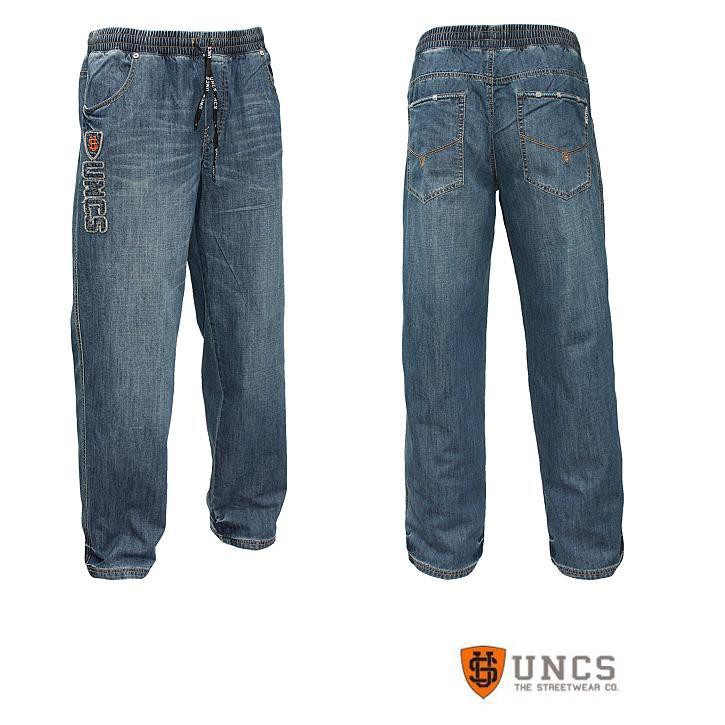uncs herren jeans mit dehnbund gr en s 5xl ebay. Black Bedroom Furniture Sets. Home Design Ideas