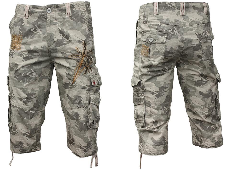 joe browns lange cargo shorts 3 4 hose camouflage ebay. Black Bedroom Furniture Sets. Home Design Ideas